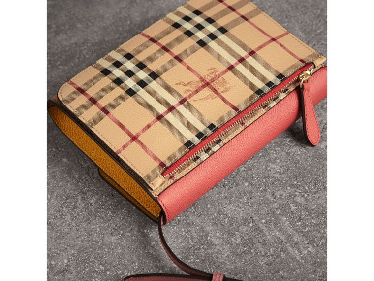 Haymarket Check and Leather Crossbody Bag in Cinnamon Red - Women | Burberry - cell image 4
