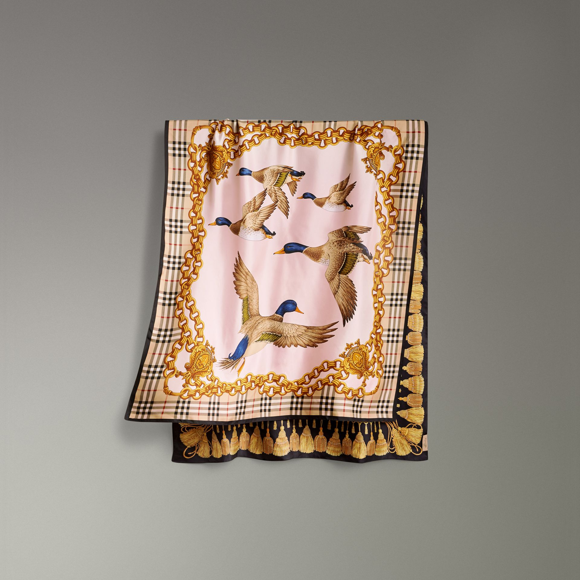 Archive Scarf Print Silk Scarf in Gold | Burberry United Kingdom - gallery image 0