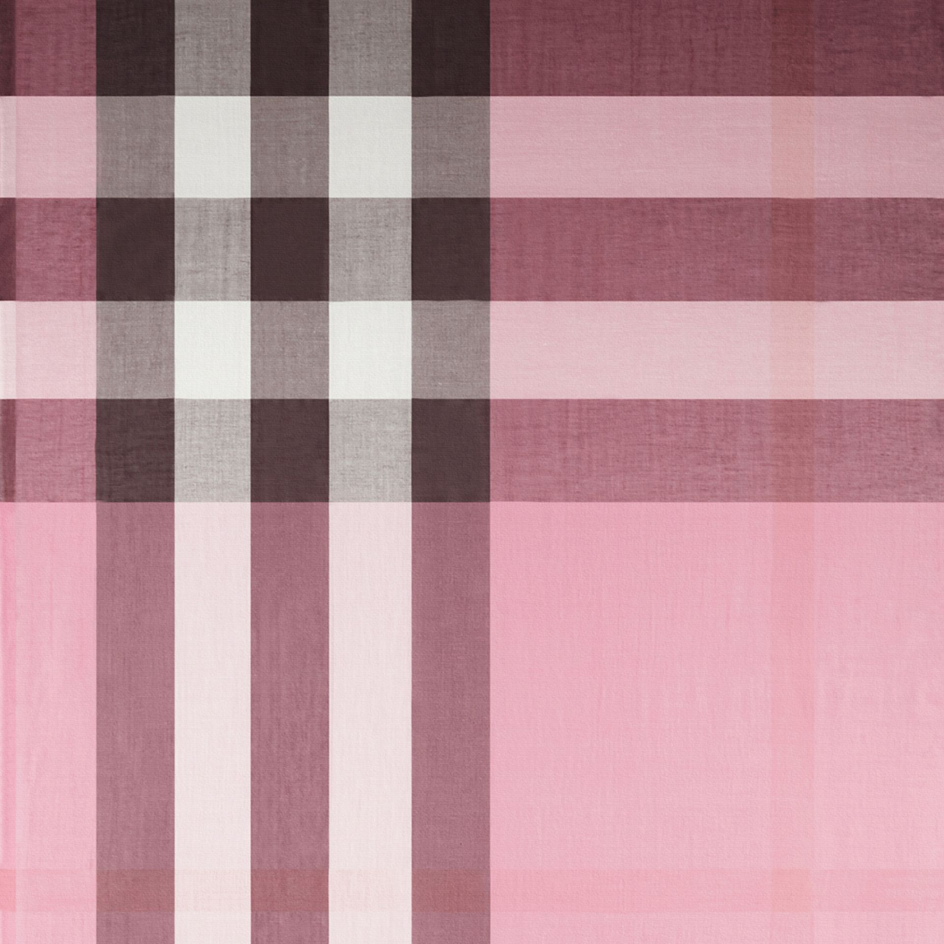 Rose pink Check Modal Cashmere and Silk Scarf Rose Pink - gallery image 2