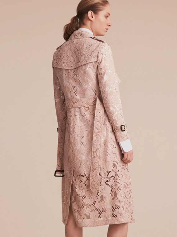 Macramé Lace Wrap Trench Coat - cell image 2
