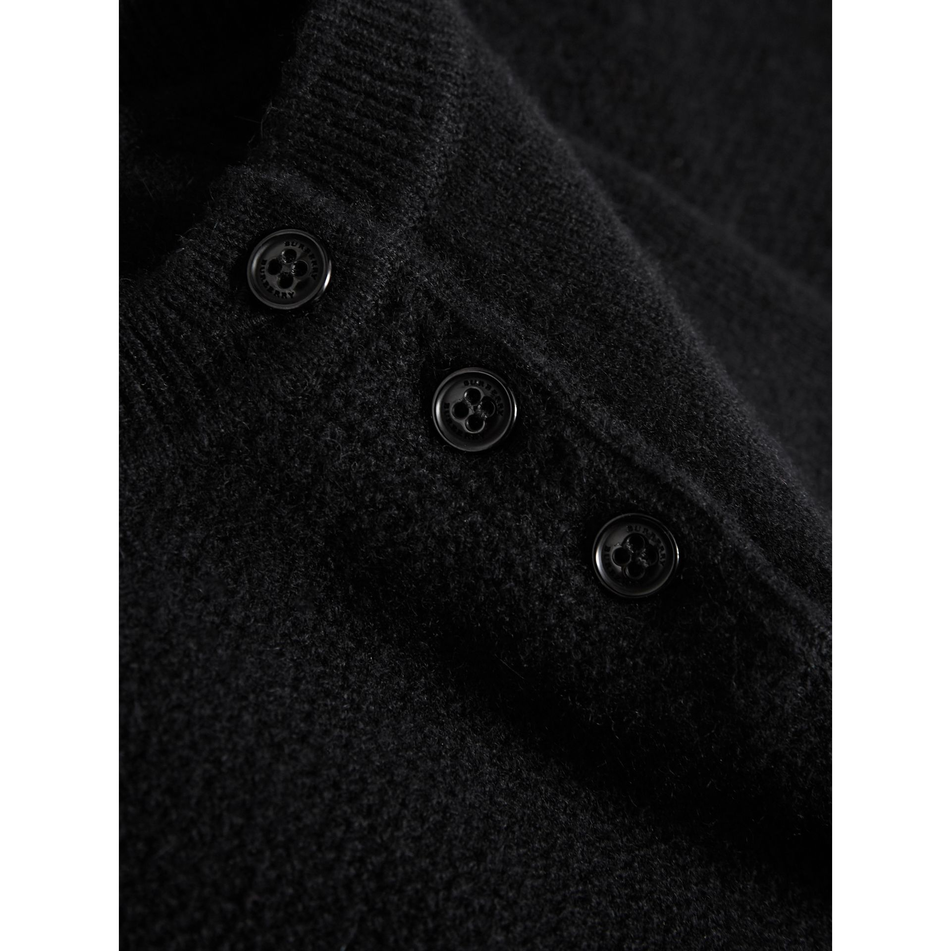 Cashmere Sweater Dress in Black | Burberry - gallery image 1