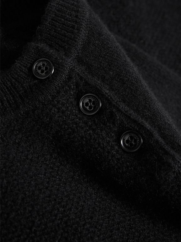 Cashmere Sweater Dress in Black | Burberry - cell image 1