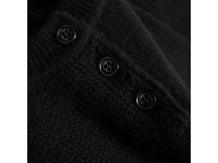 Cashmere Sweater Dress in Black - Girl | Burberry United Kingdom - cell image 1