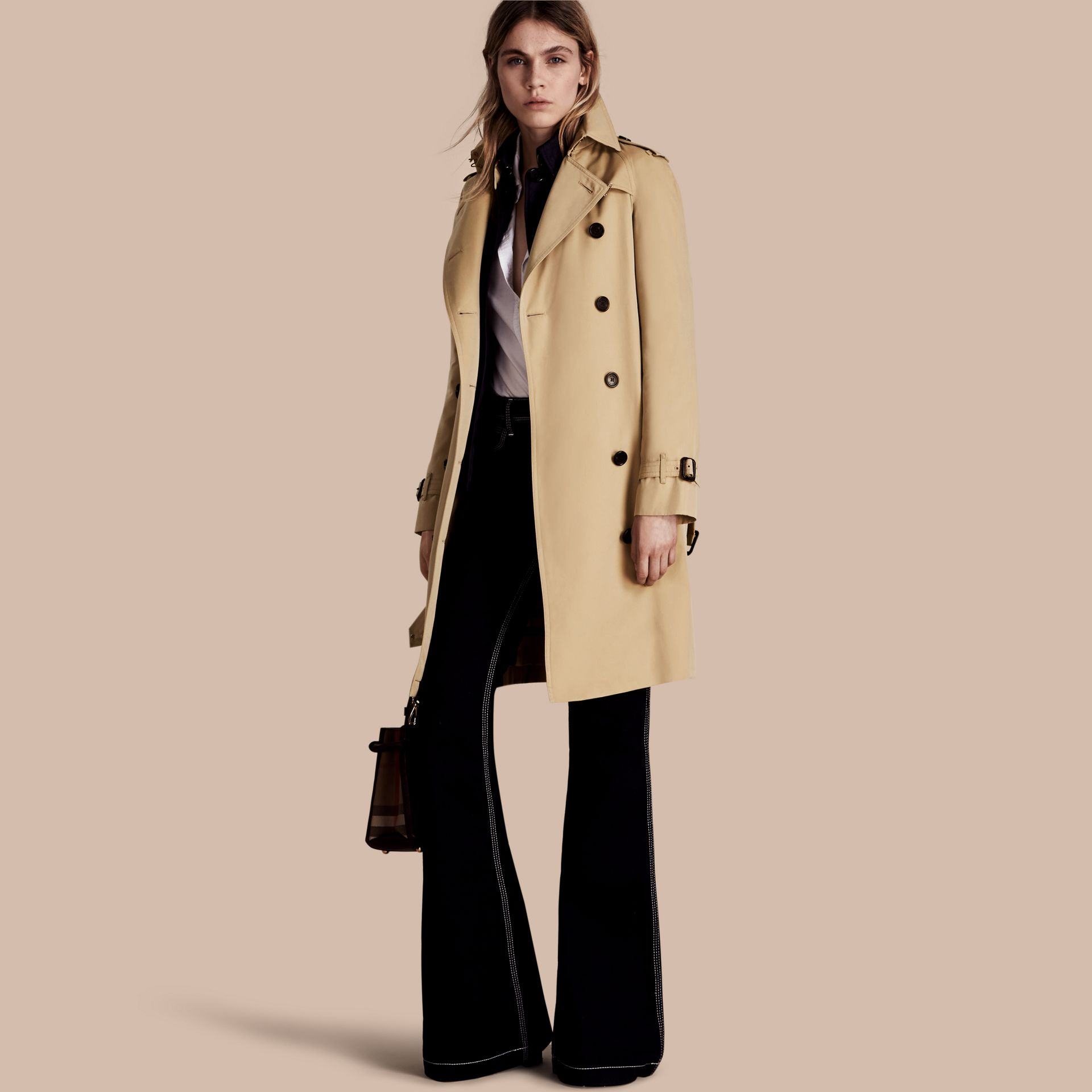 Honey The Westminster – Long Heritage Trench Coat Honey - gallery image 1