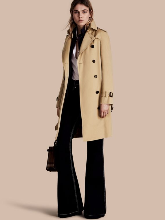 The Westminster – Long Heritage Trench Coat Honey