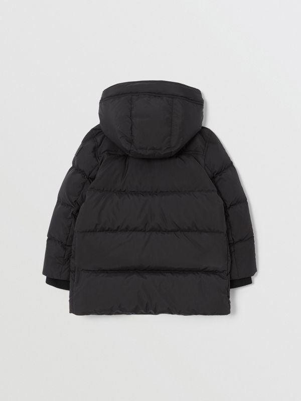 Detachable Hood Down-filled Puffer Coat in Black | Burberry United Kingdom - cell image 3