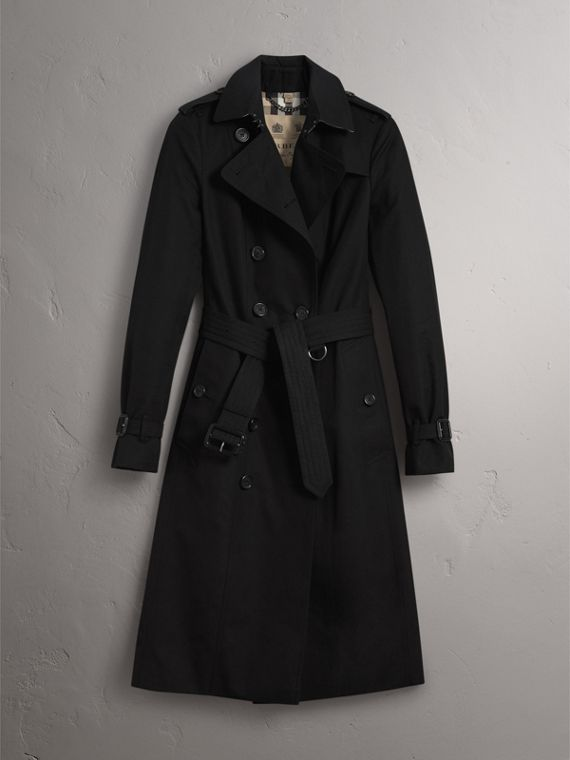 The Sandringham – Extra-long Trench Coat in Black - Women | Burberry Hong Kong - cell image 3