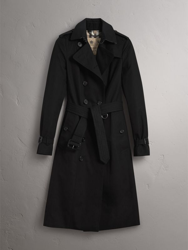 The Sandringham – Extra-long Trench Coat in Black - Women | Burberry - cell image 3