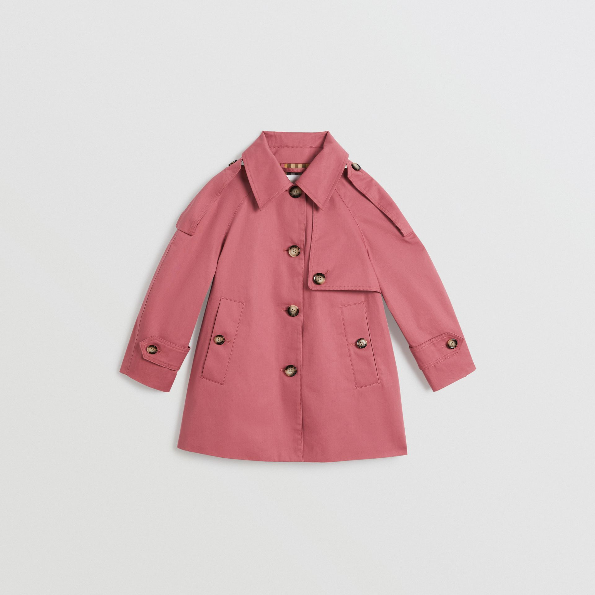 Showerproof Cotton Reconstructed Trench Coat in Rose Pink | Burberry - gallery image 0