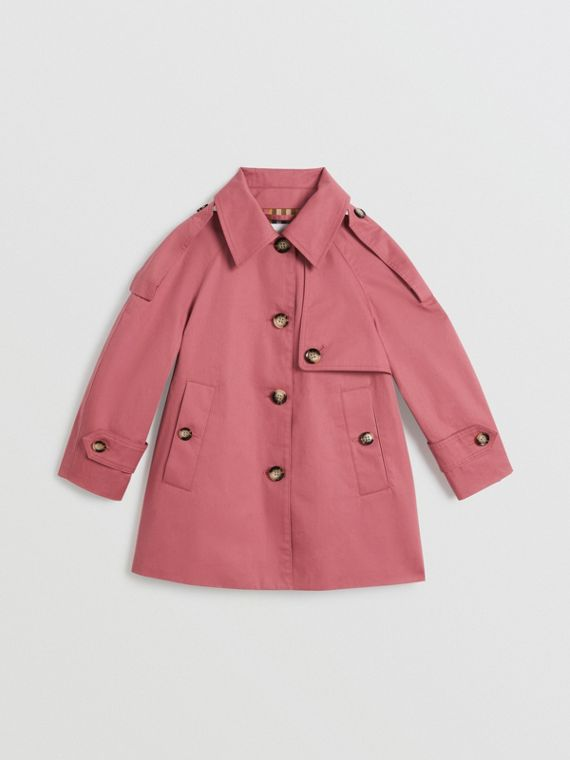 Showerproof Cotton Reconstructed Trench Coat in Rose Pink