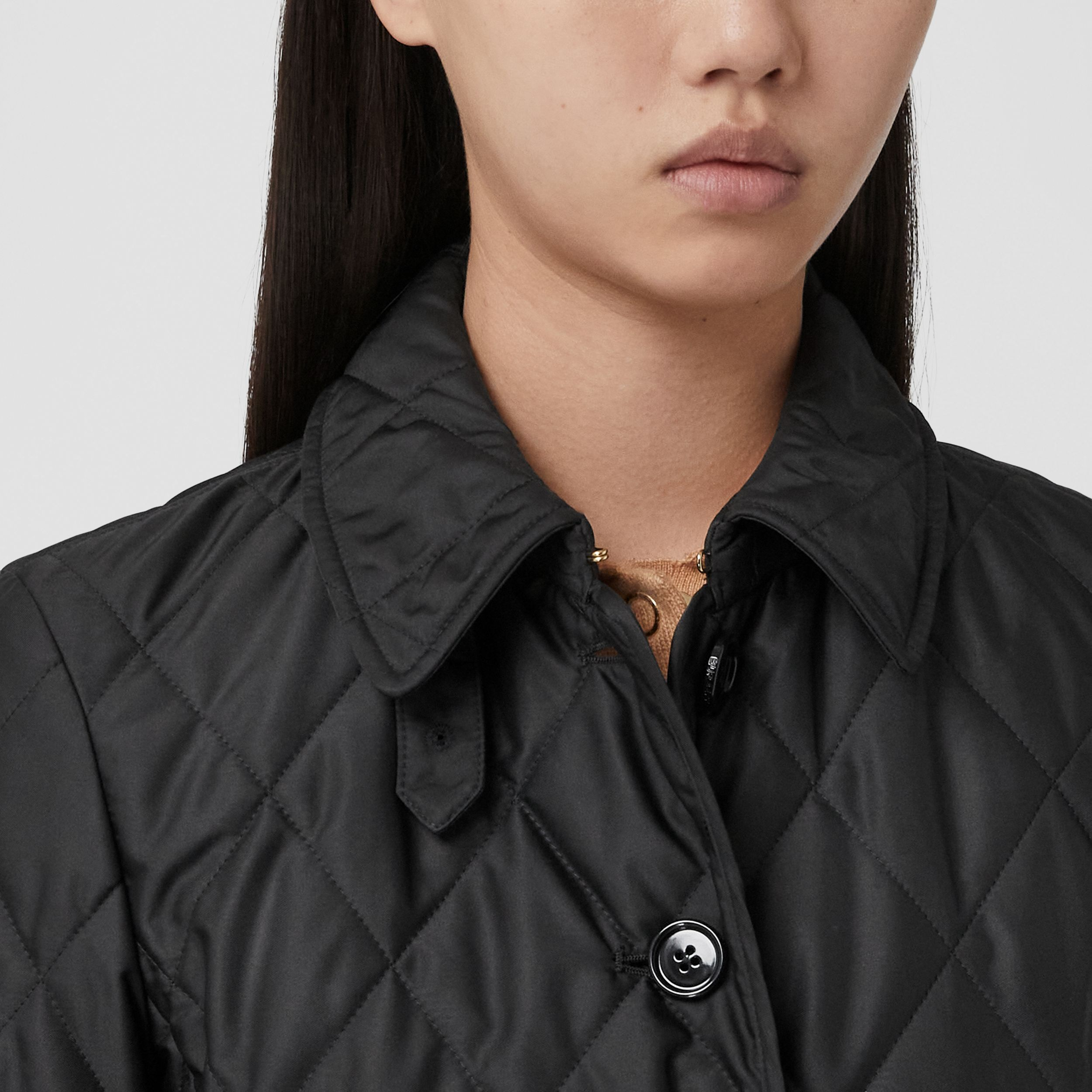 Diamond Quilted Thermoregulated Jacket in Black - Women | Burberry - 2