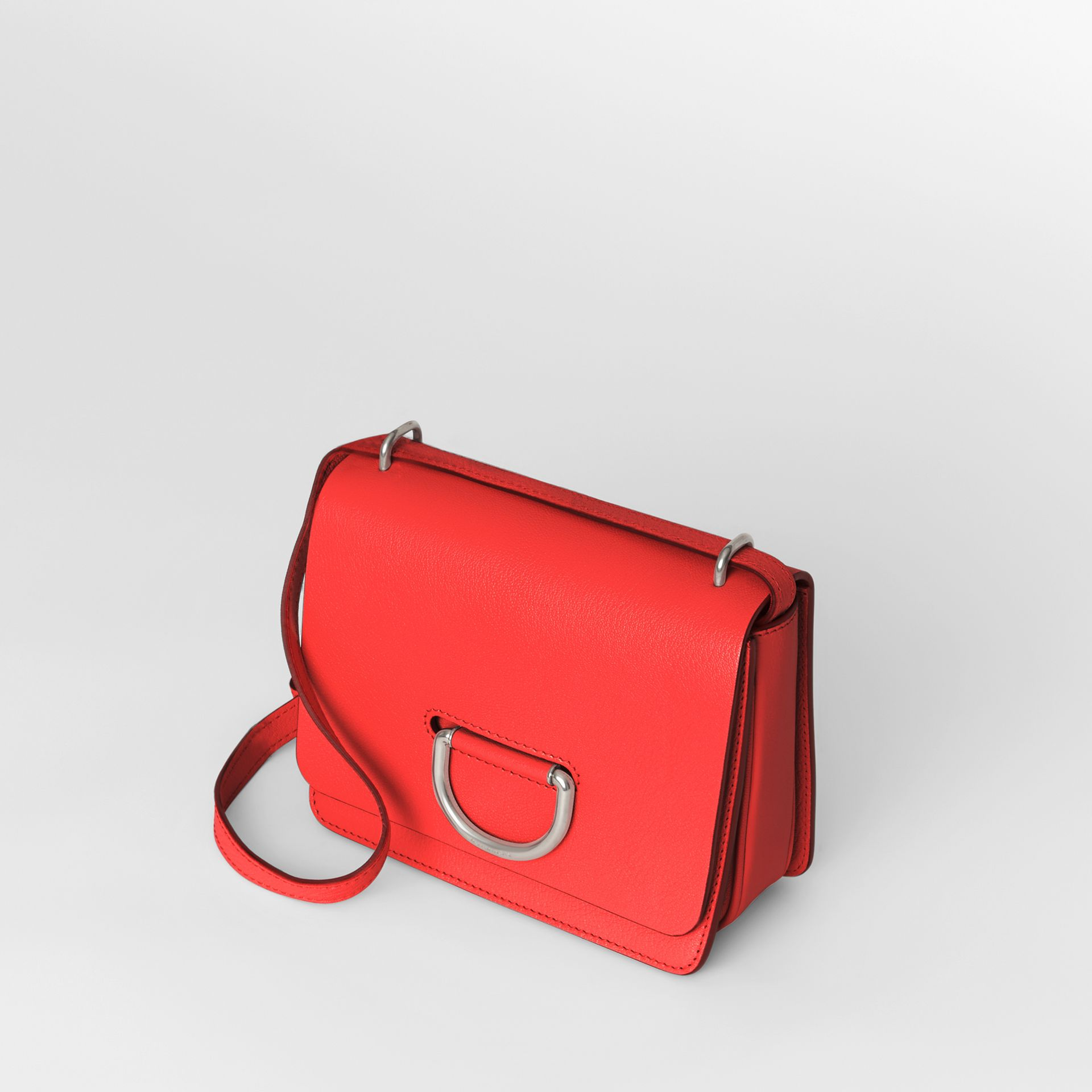 The Small Leather D-ring Bag in Bright Red - Women | Burberry - gallery image 4