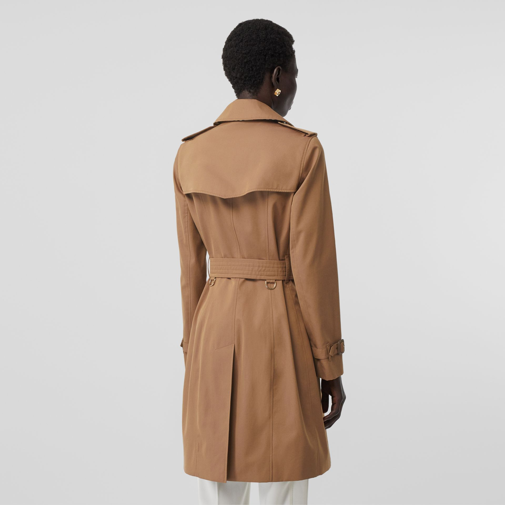 Cotton Gabardine Trench Coat in Warm Taupe - Women | Burberry - gallery image 2