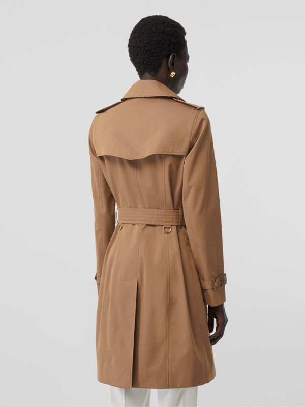 Cotton Gabardine Trench Coat in Warm Taupe - Women | Burberry - cell image 2