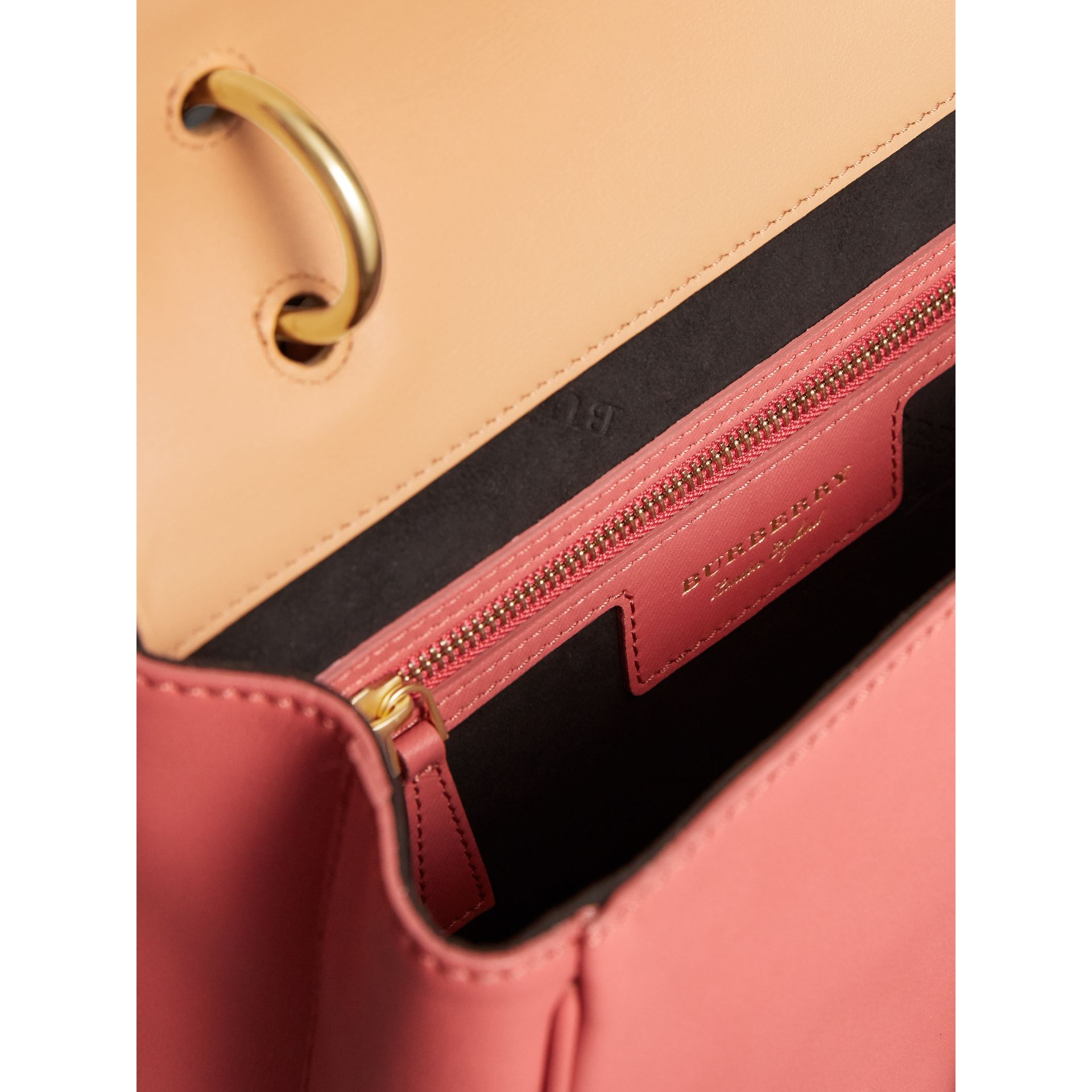 The Medium DK88 Top Handle Bag in Blossom Pink/pale Clementine - Women | Burberry - gallery image 4