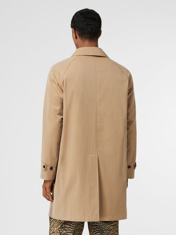 Icon Stripe Detail Tropical Gabardine Car Coat in Honey - Men | Burberry - cell image 2