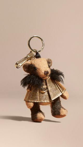 Thomas Bear Charm in Metallic Cape