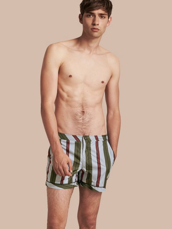 Pyjama Stripe Swim Shorts