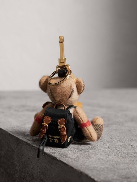 Thomas Bear Charm with Rucksack in Camel | Burberry United Kingdom - cell image 3