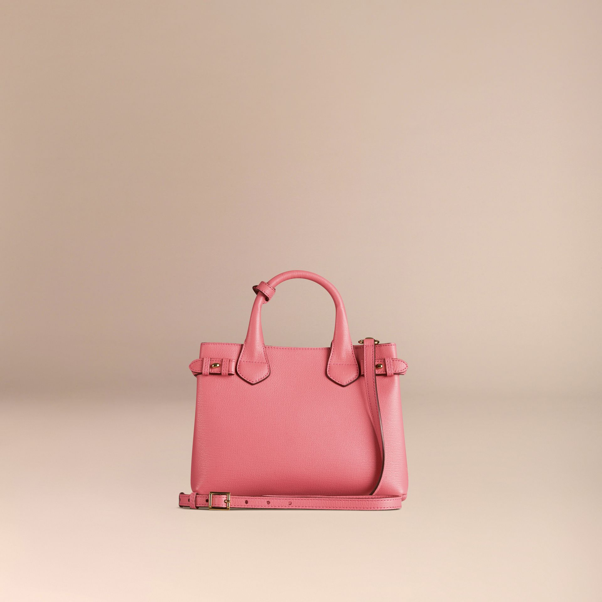 Rose mauve Petit sac The Banner en cuir et coton House check Rose Mauve - photo de la galerie 4