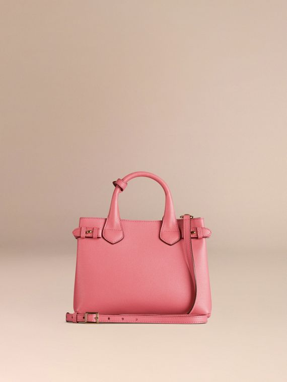 Rose mauve Petit sac The Banner en cuir et coton House check Rose Mauve - cell image 3