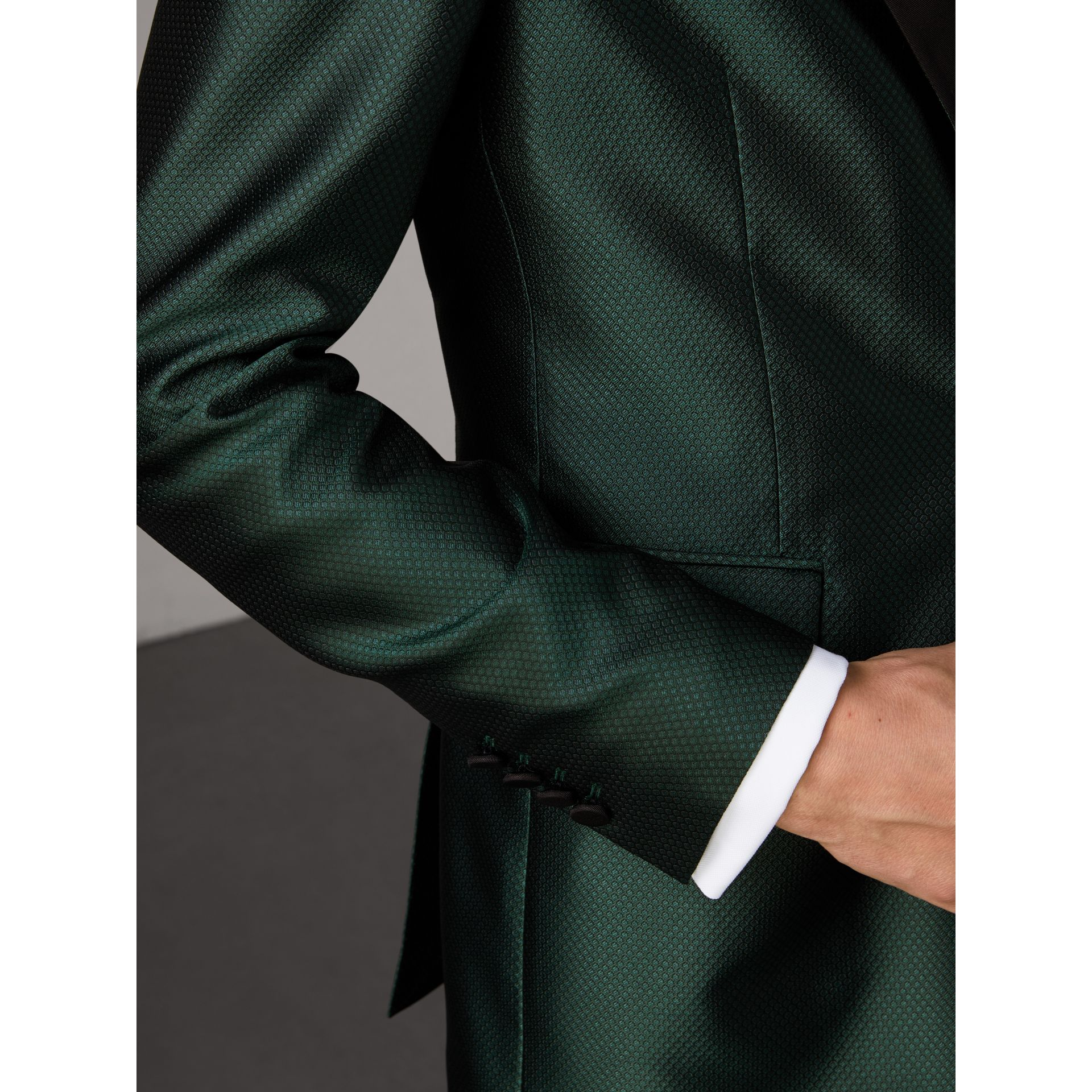 Soho Fit Jacquard Evening Jacket in Forest Green - Men | Burberry - gallery image 6