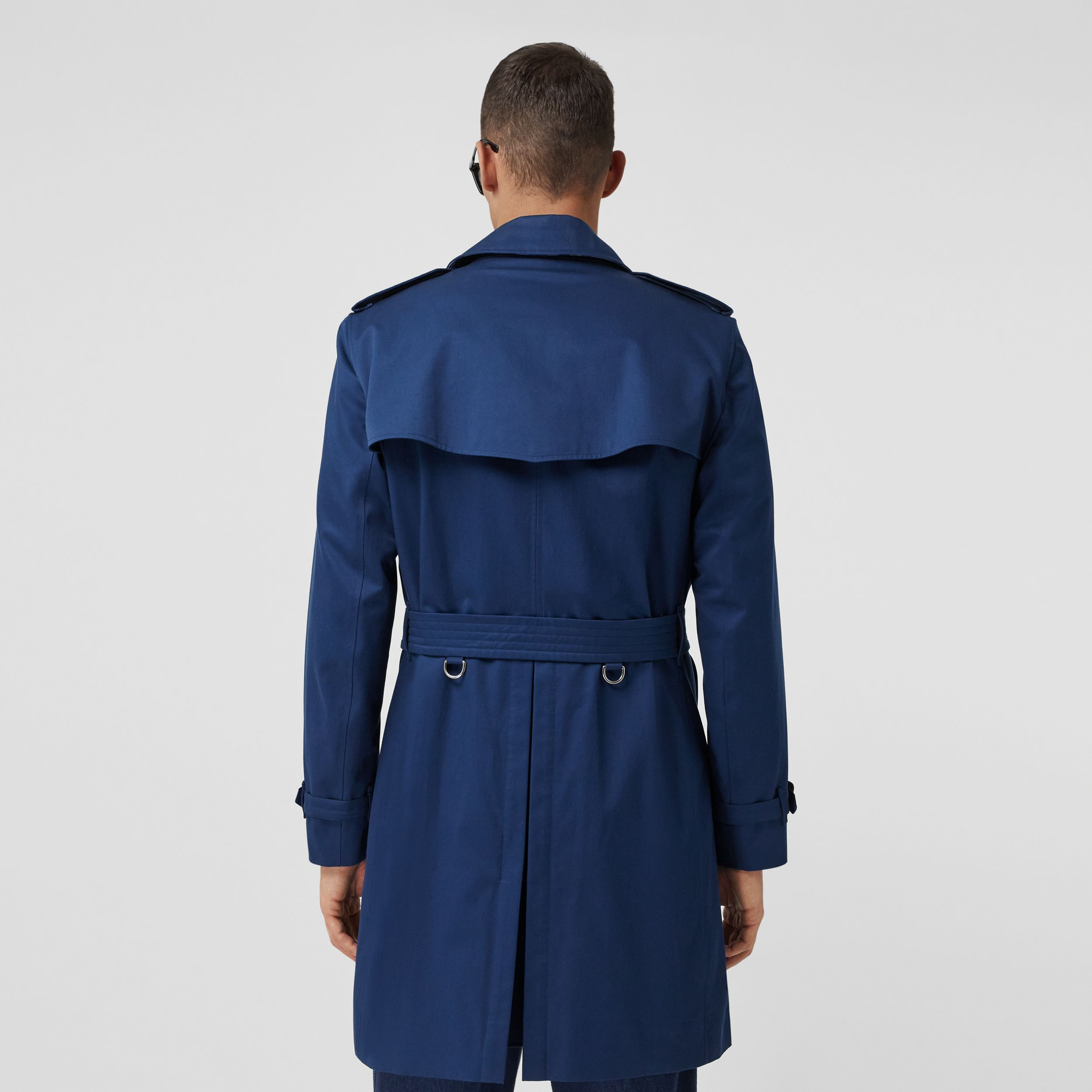The Mid-length Kensington Trench Coat in Ink Blue - Men | Burberry - 3