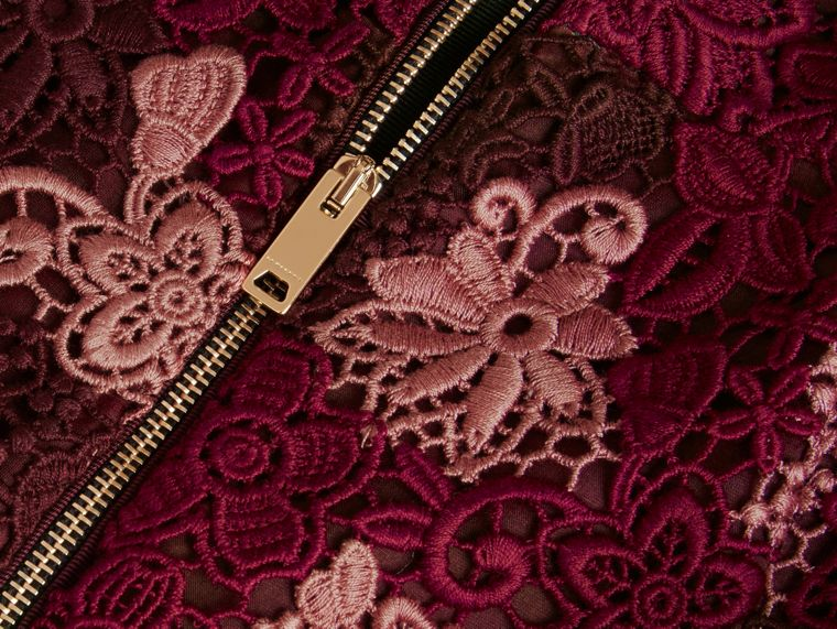 Deep claret Floral Italian Macramé Lace Skirt - cell image 1