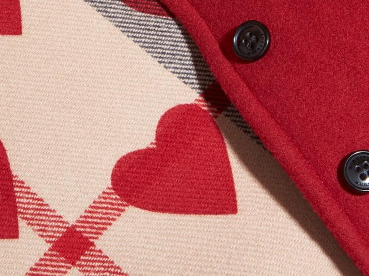 Rosso windsor Mantella svasata in lana con cappuccio Rosso Windsor - cell image 1