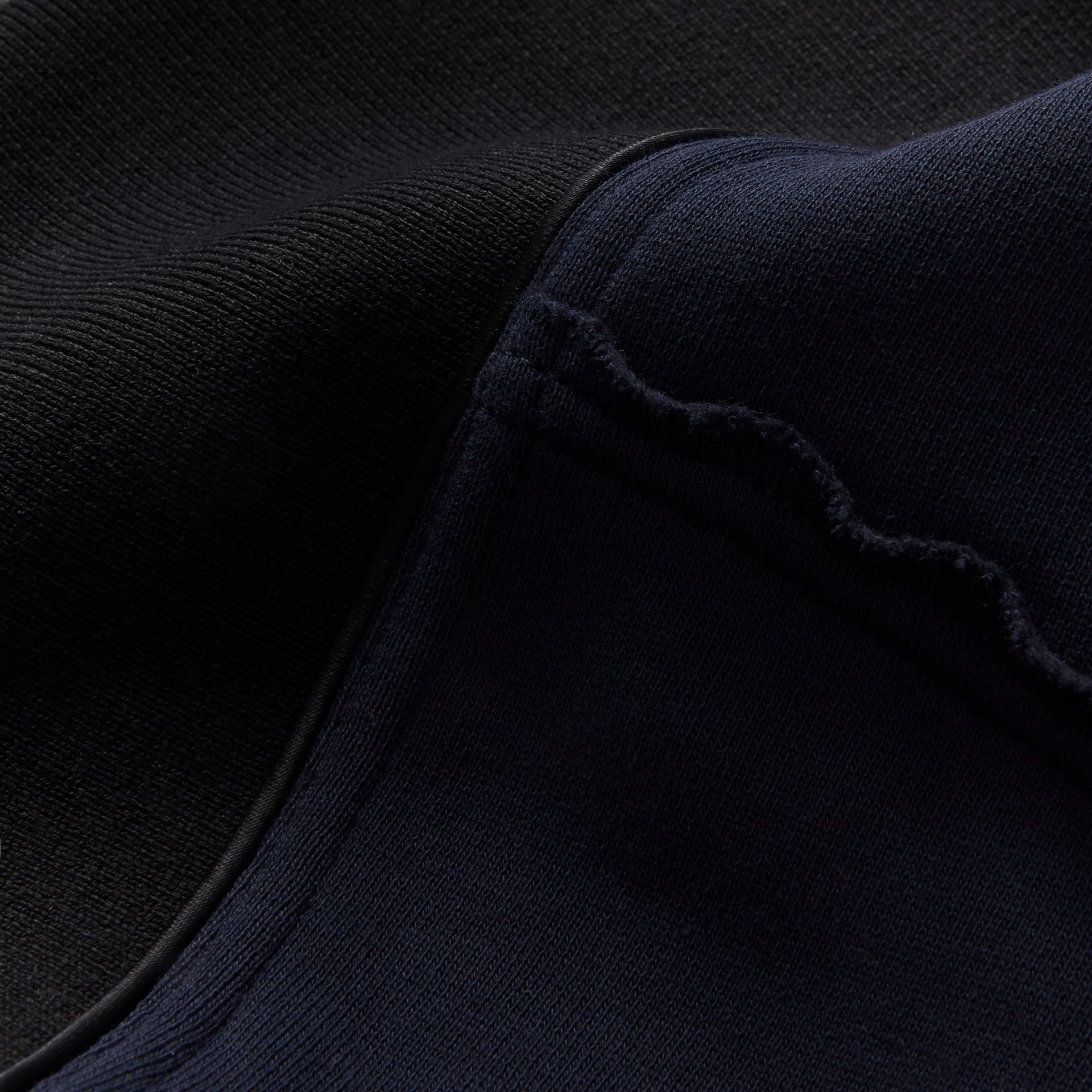 Sculptured-sleeve Asymmetric Sweatshirt in Navy - Women | Burberry Singapore - gallery image 2