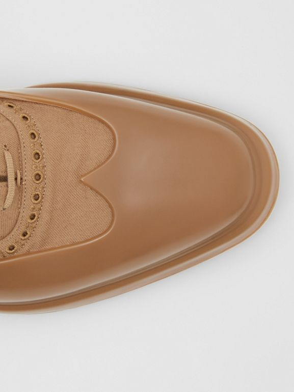 Toe Cap Detail Wool Oxford Brogues in Warm Camel - Men | Burberry - cell image 1