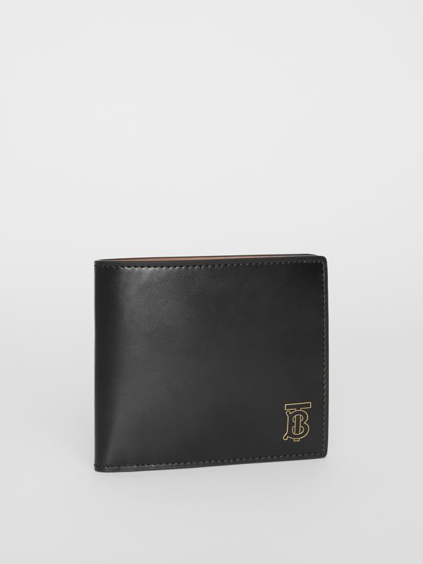 Monogram Motif Leather International Bifold Wallet in Black | Burberry - cell image 3