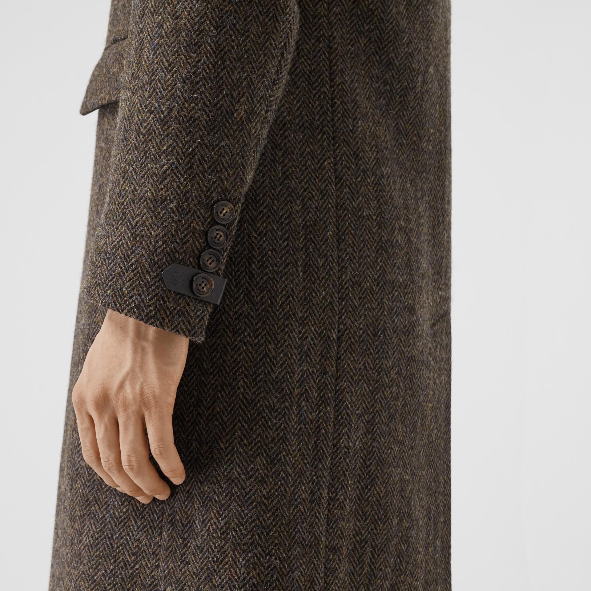 Herringbone Wool Tweed Coat in Brown - Men | Burberry Canada - gallery image 3