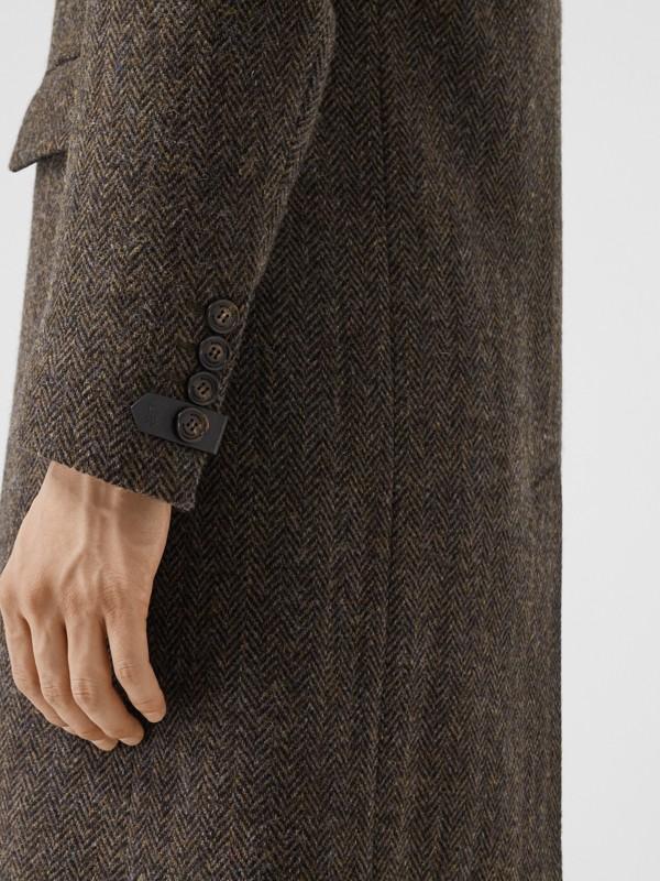 Herringbone Wool Tweed Coat in Brown - Men | Burberry Canada - cell image 3