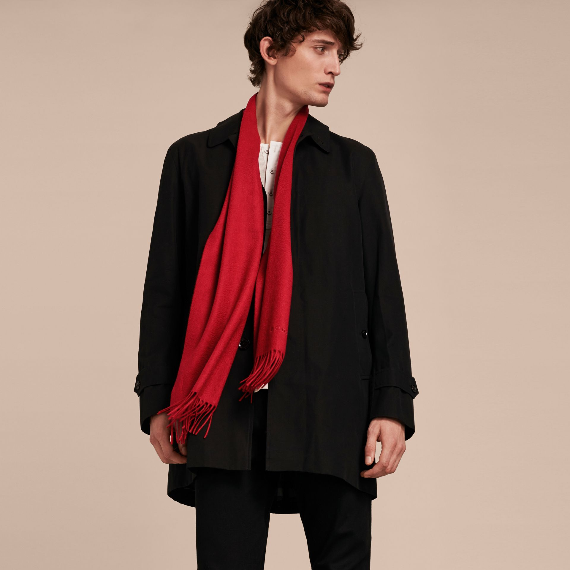 The Classic Cashmere Scarf in Parade Red - gallery image 4