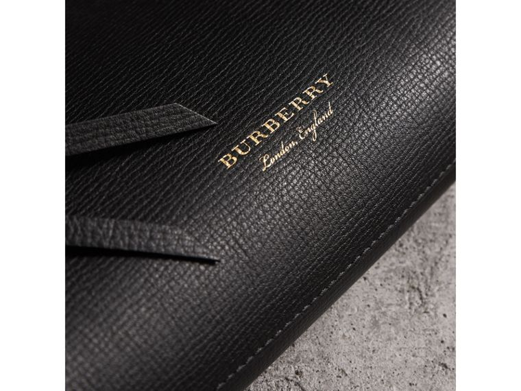 Grainy Leather Clutch Bag in Black - Women | Burberry Canada - cell image 1