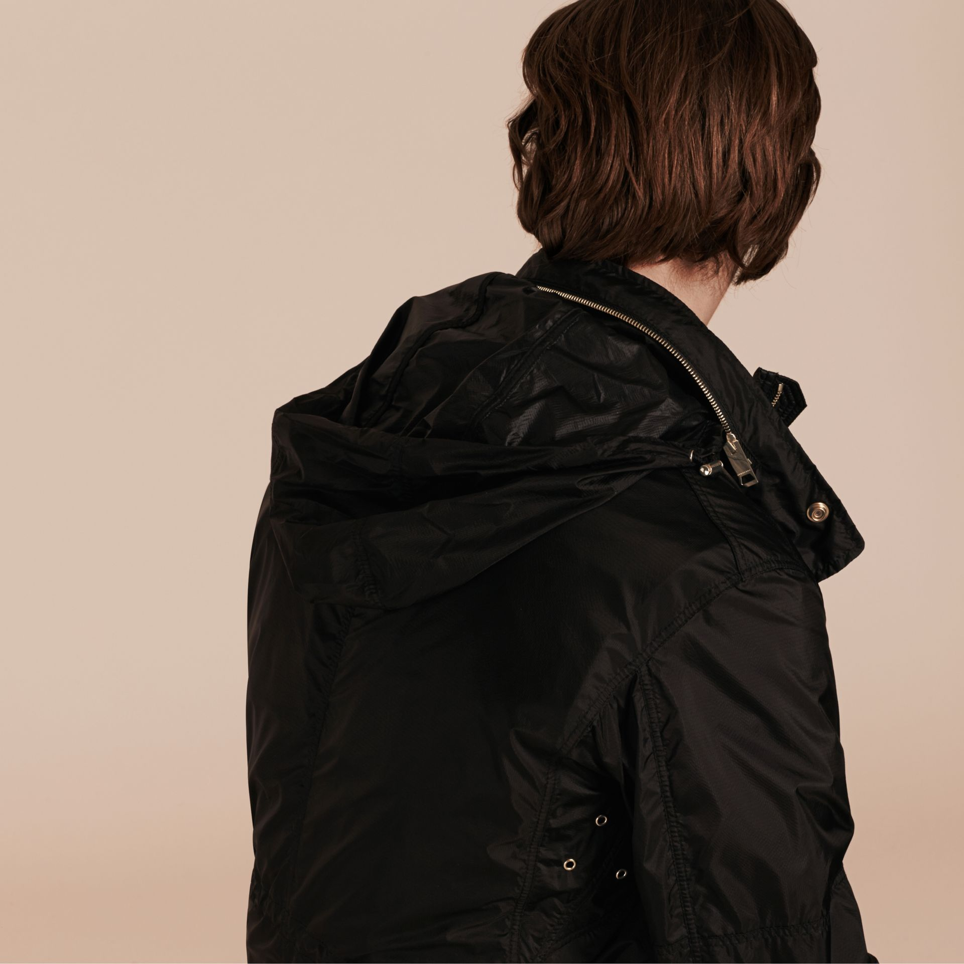 Black Ultra-lightweight Field Jacket with Removable Warmer - gallery image 6