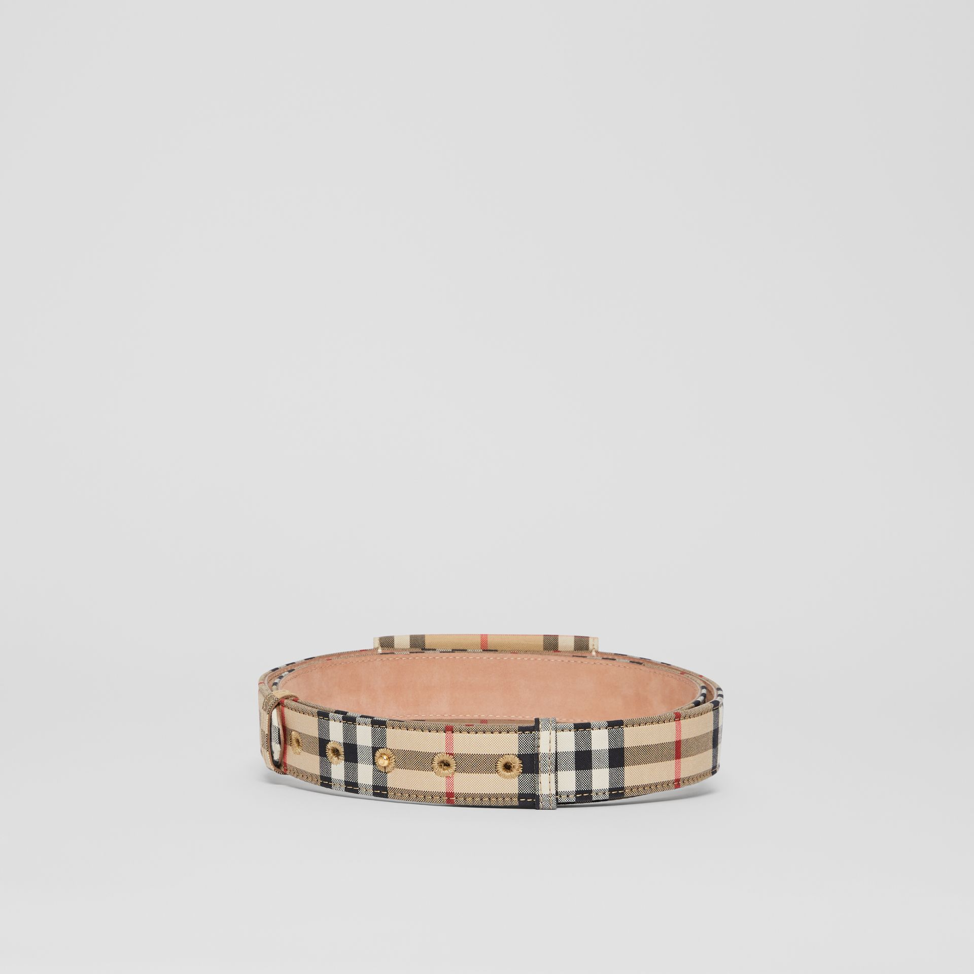 Envelope Detail Vintage Check Cotton Belt in Archive Beige - Women | Burberry United States - gallery image 4