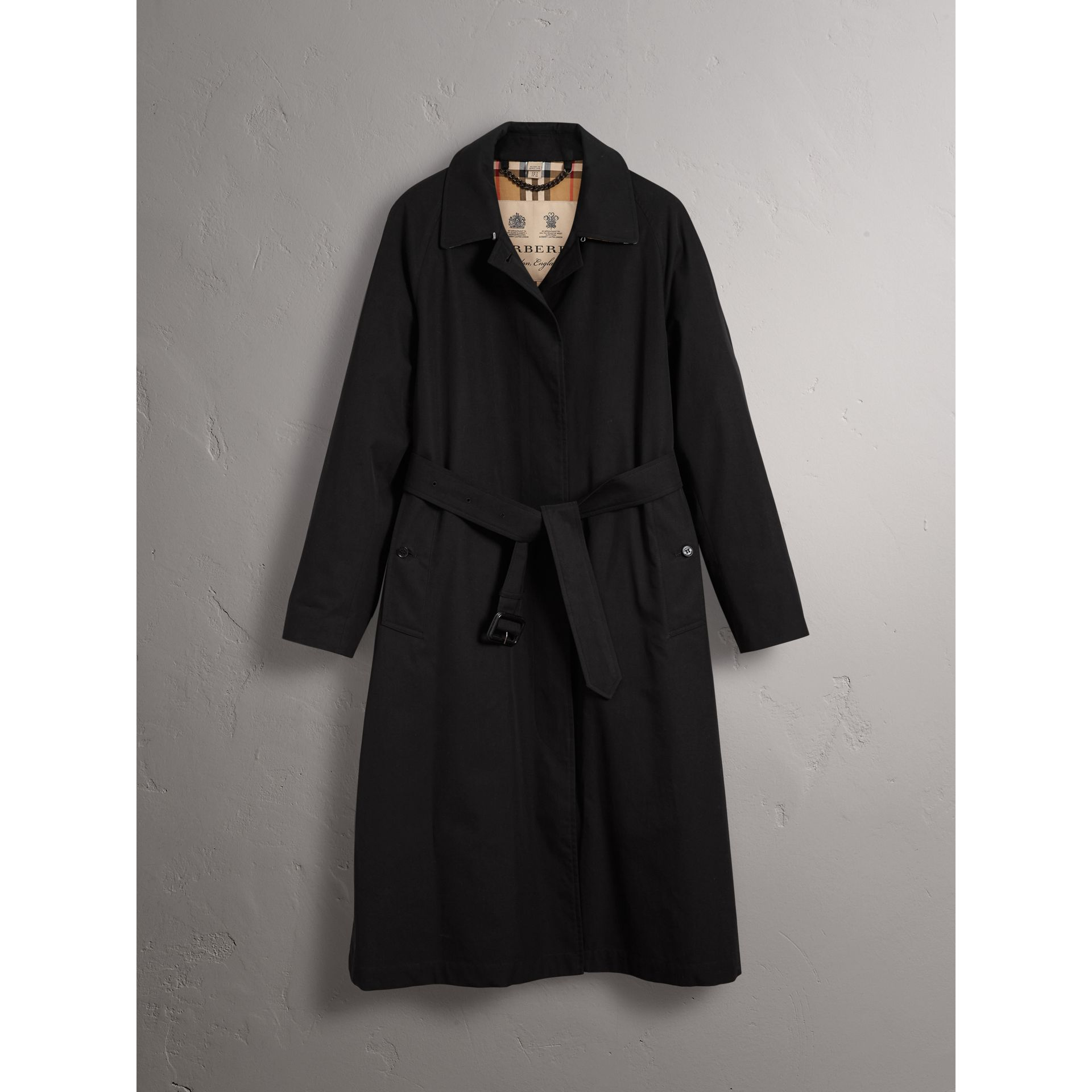 The Brighton – Car Coat extra-long (Noir) - Femme | Burberry - photo de la galerie 4