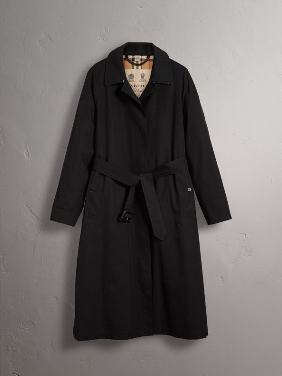 The Brighton – Extra-long Car Coat in Black - Women | Burberry Canada - cell image 3