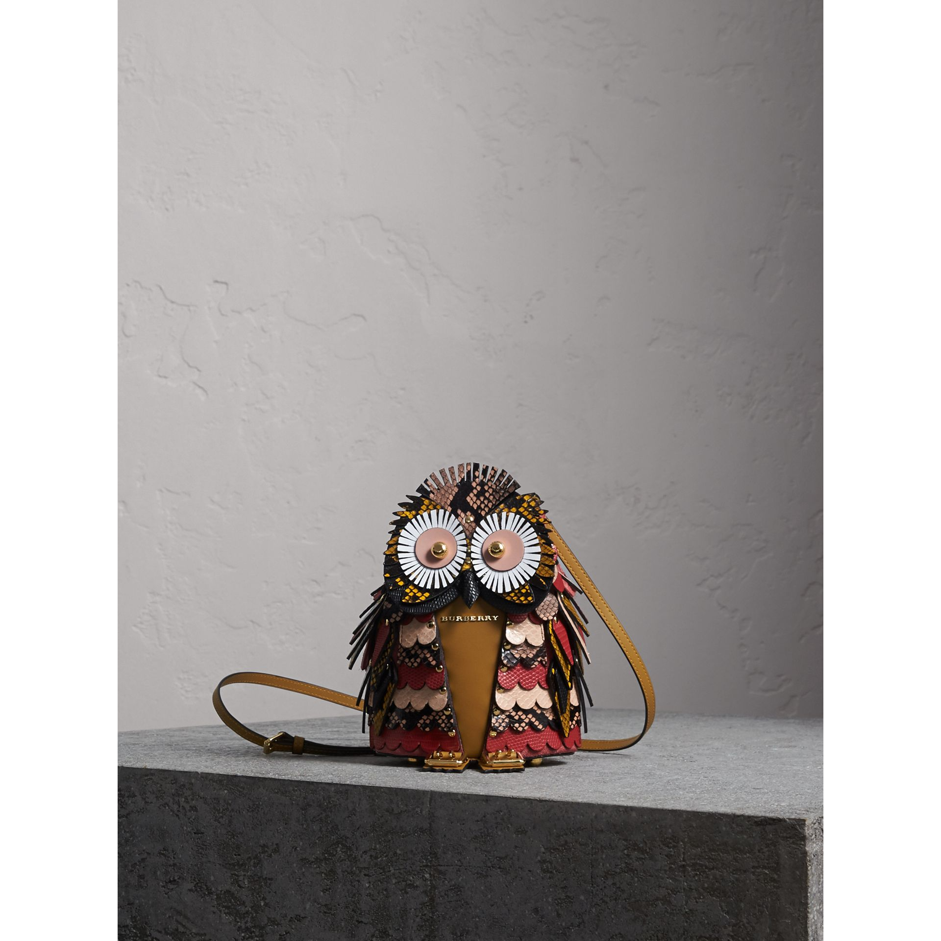 The Owl – Calf Suede and Snakeskin Crossbody Bag - Women   Burberry - gallery image 1