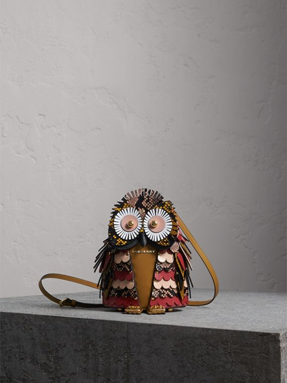The Owl – Calf Suede and Snakeskin Crossbody Bag - Women | Burberry