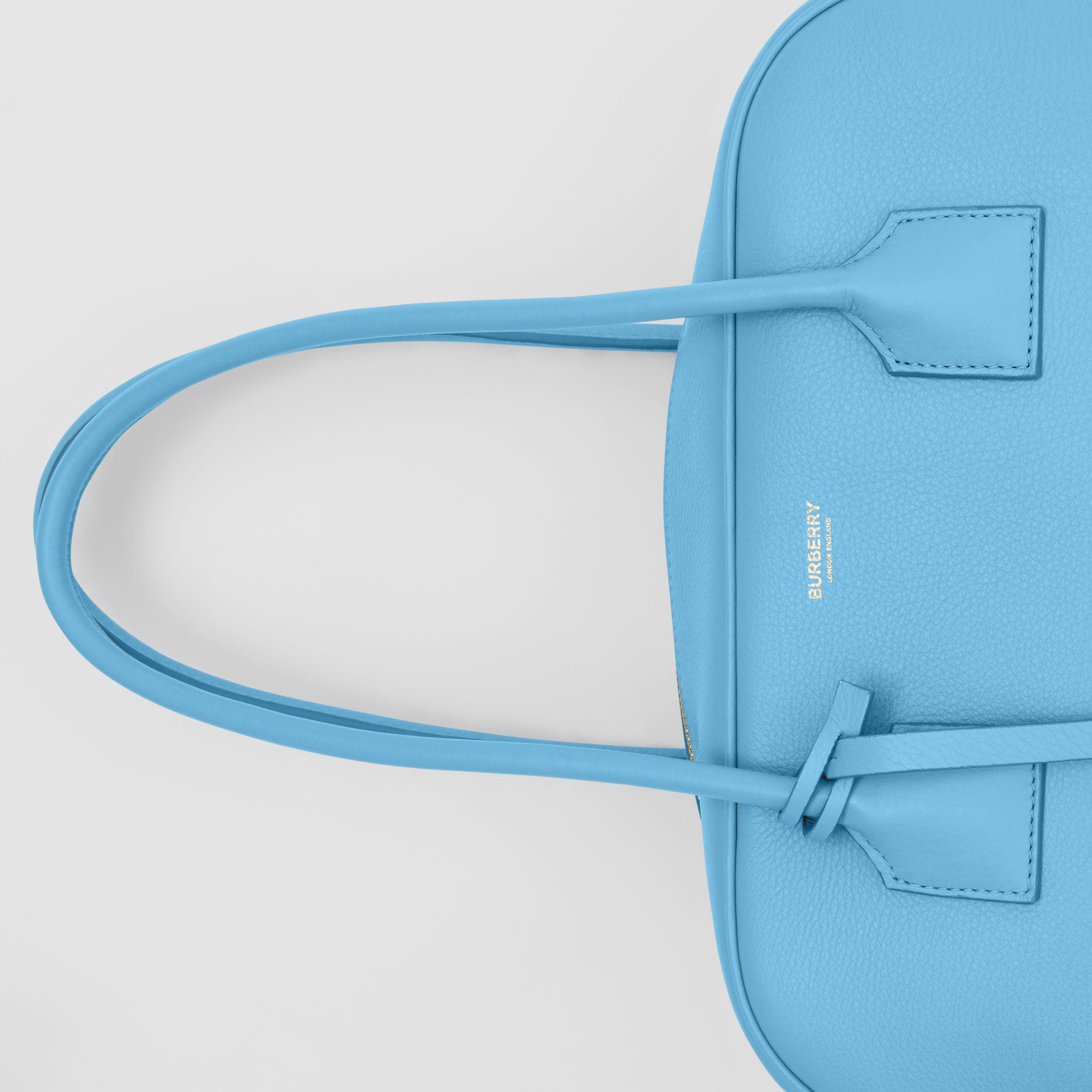 Medium Leather Half Cube Bag in Blue Topaz - Women | Burberry Australia - 2