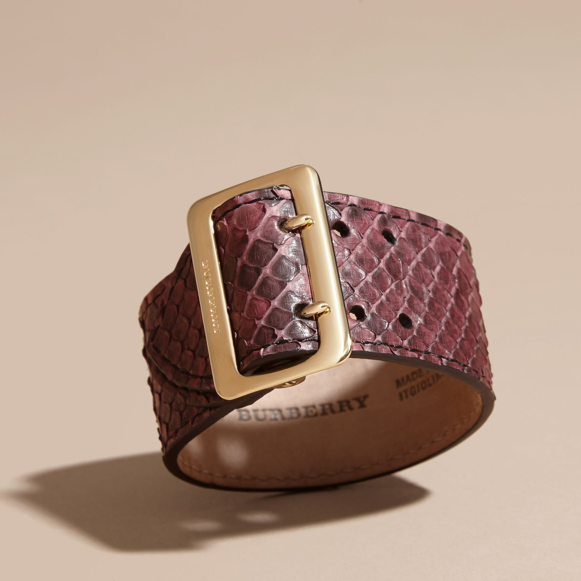 Python Cuff in Elderberry - Women | Burberry - gallery image 3