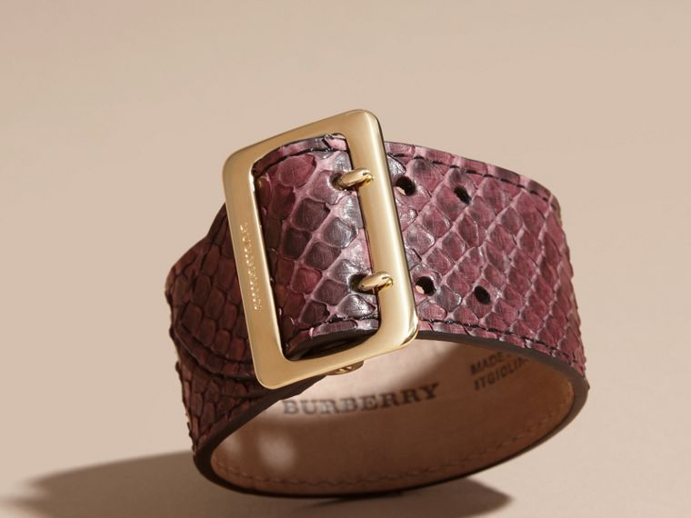 Python Cuff in Elderberry - Women | Burberry - cell image 2