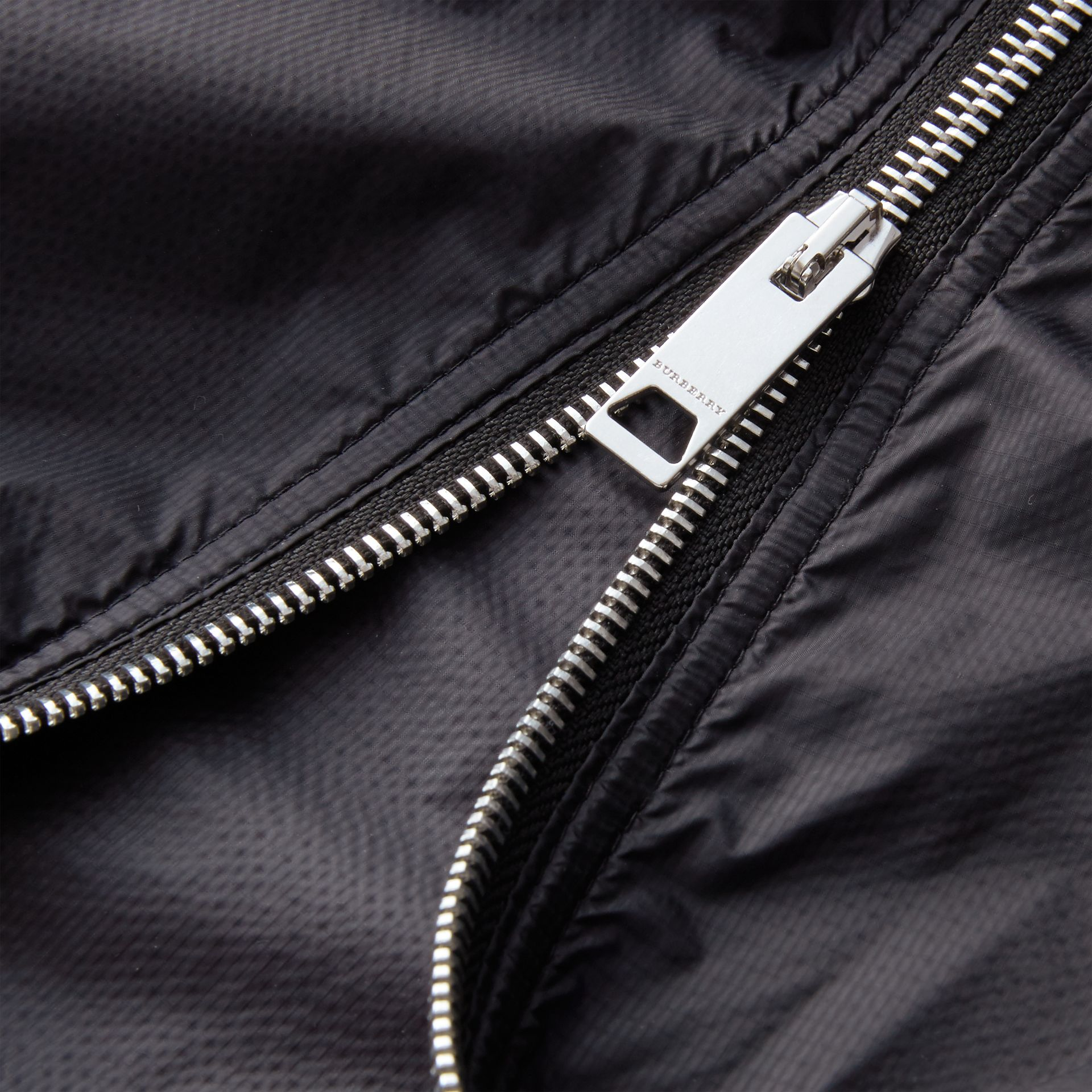 Hooded Super-lightweight Jacket Navy - gallery image 2