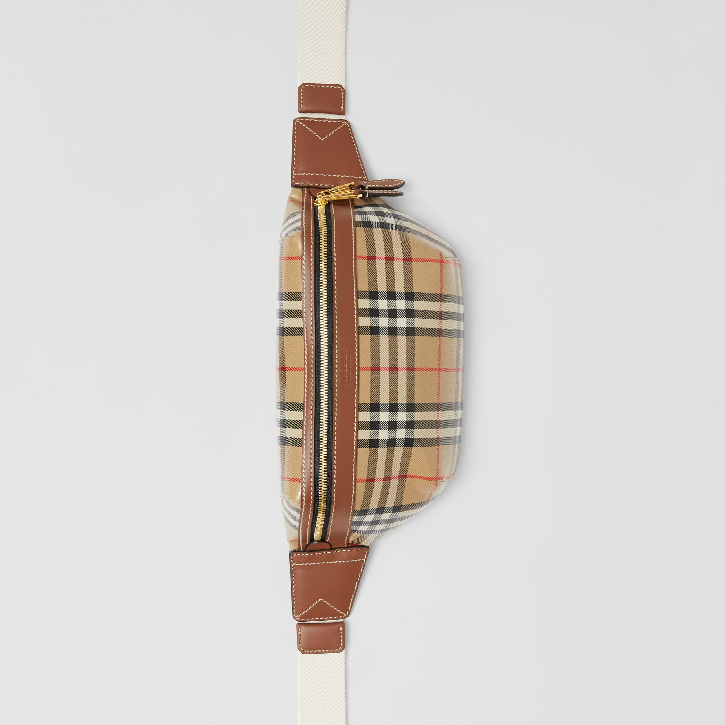Vintage Check Coated Canvas Sonny Bum Bag in Archive Beige - Men | Burberry - 4