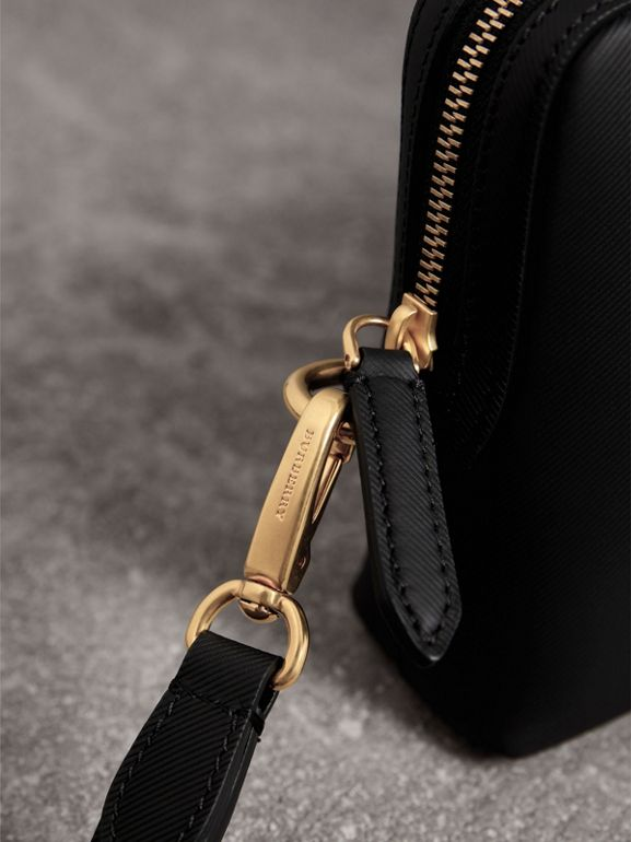 Trench Leather Pouch in Black | Burberry - cell image 1