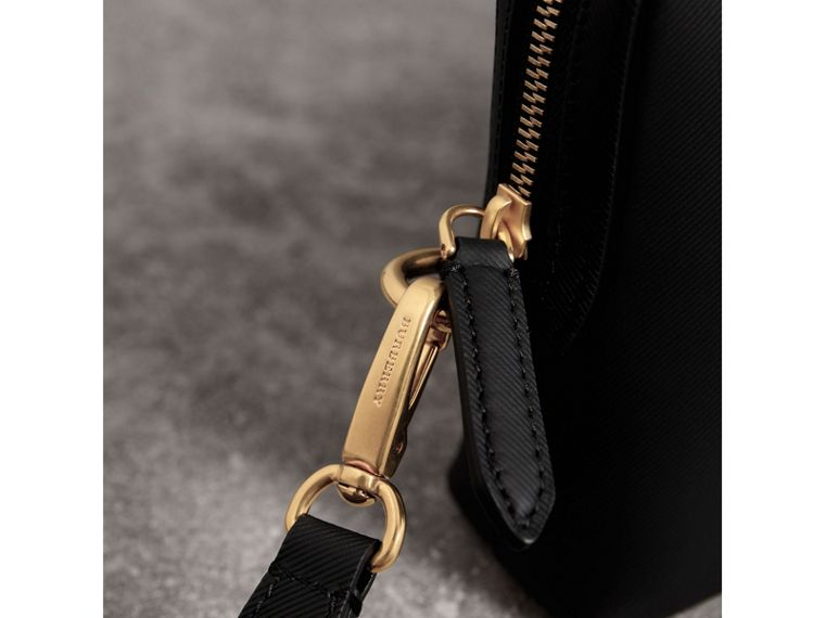 Trench Leather Pouch in Black - Men | Burberry - cell image 1