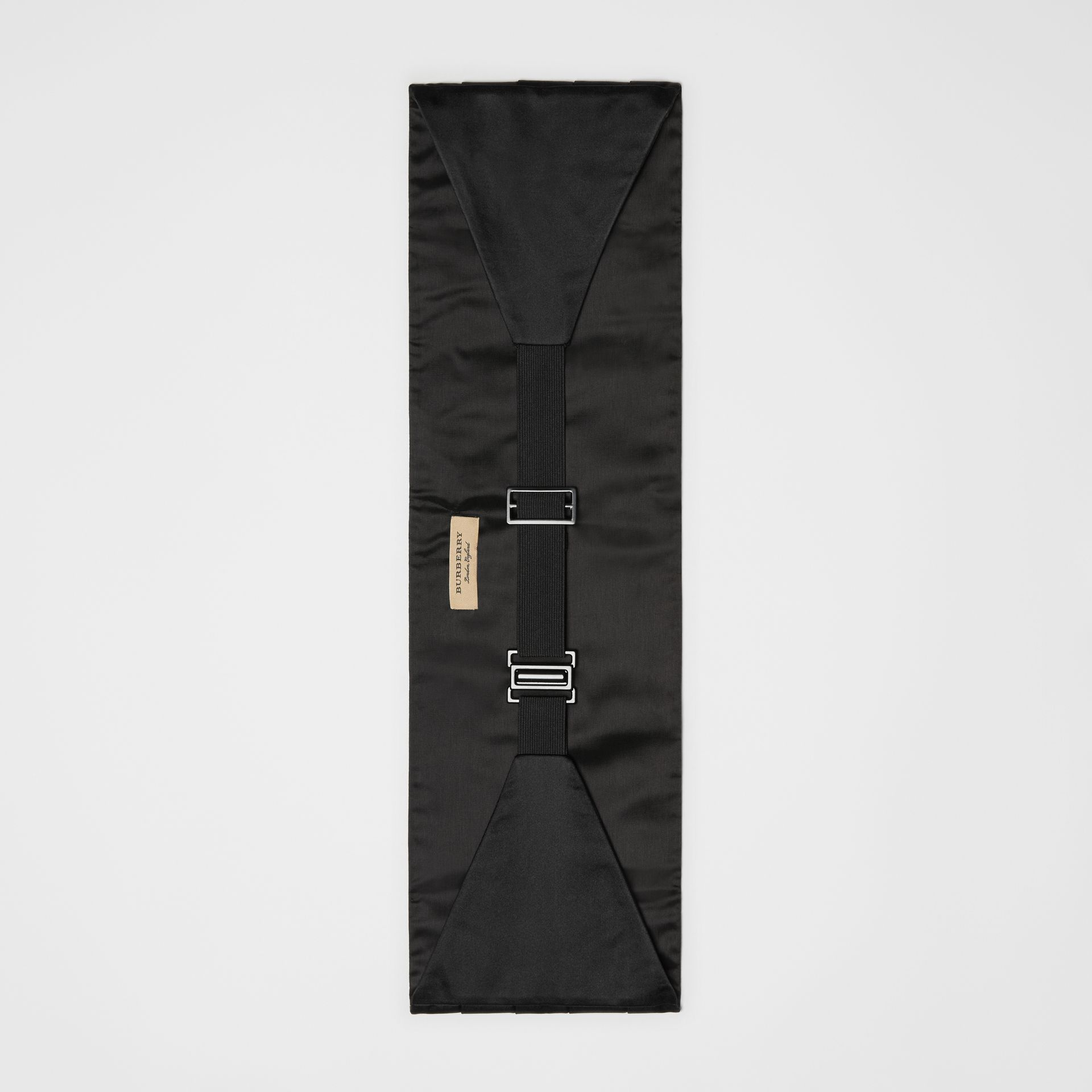 Pleated Silk Cummerbund in Black - Men | Burberry - gallery image 2